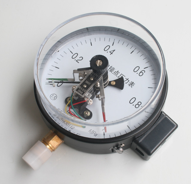 结构原理    电接点压力表由测量系统,指示系统,磁助电接点装置